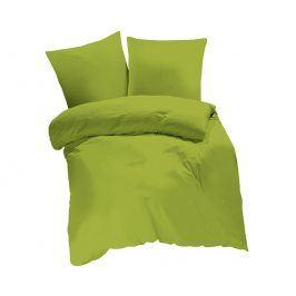 Povlečení UNI zelené 140x220 jednolůžko - prodloužené bavlna