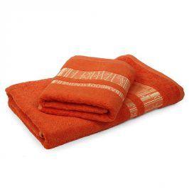 Bambusový ručník Jambi oranžový 50x90 cm Ručník