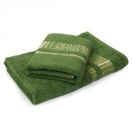 Bambusový ručník Jambi tmavě zelený 50x90 cm Ručník