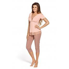 Luxusní dámské pyžamo Estera  béžová