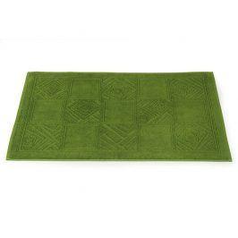 Koupelnová předložka Natalie zelená 50x80 cm bavlna