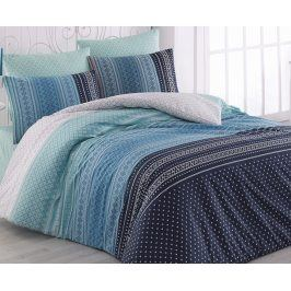 Povlečení Summer modré 140x200 jednolůžko - standard bavlna