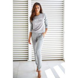 Dámské pyžamo Lungo Dynamic šedé  šedá
