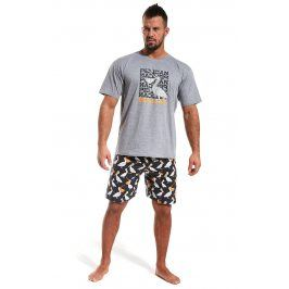 Pánské pyžamo CORNETTE Pelikán  šedá