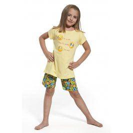 Dívčí pyžamo Smile  žlutá