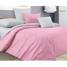 Povlečení s Pepito vzorem růžovo-šedé 140x200 jednolůžko - standard perkál