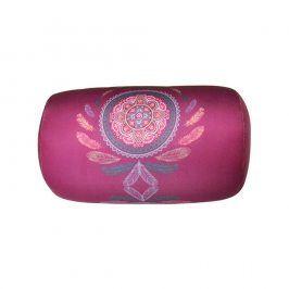 Polštářek Mandala fialový 30x17 cm růžová
