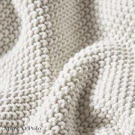 Pletený pléd Marc O´Polo Nordic Of White 130x170 cm ecru