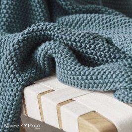 Pletený pléd Marc O´Polo Nordic Sage Green 130x170 cm zelená