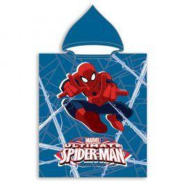 Dětské pončo Spider-Man 50x115 cm fialová