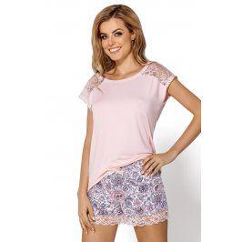 Dámské pyžamo Valentina  růžovomodrá