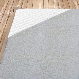 Napínací froté prostěradlo šedé Dvoulůžko Bavlna - froté