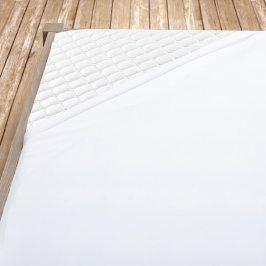 Napínací jersey prostěradlo bílé Jednolůžko Bavlna - jersey