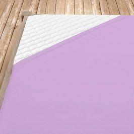 Napínací jersey prostěradlo fialové Jednolůžko Bavlna - jersey