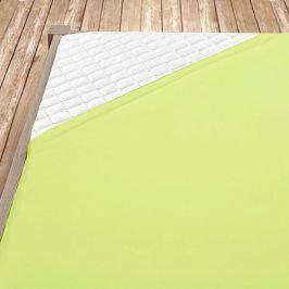 Napínací jersey prostěradlo světle zelené Jednolůžko Bavlna - jersey