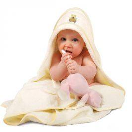 Dětská osuška Maxi s kapucí Osuška ecru