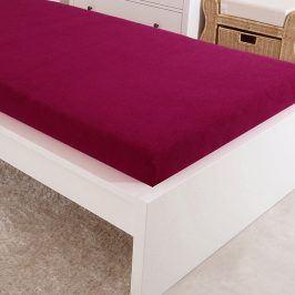 Napínací prostěradlo jersey tmavě růžové 60x120 cm dětská postýlka Bavlna - jersey
