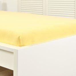 Napínací prostěradlo jersey žluté 60x120 cm dětská postýlka Bavlna - jersey