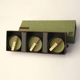 Dárková sada svíček IV. 26 x 9 cm zelená