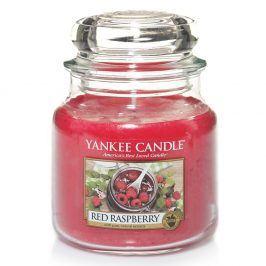 YC svíčka ve skle Red Raspberry střední  červená