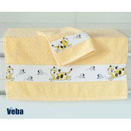 Dětský ručník Nora Myši světle žlutý 50x100 cm bavlna
