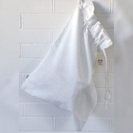 Pytel na prádlo lněný bílý 40x60 cm bílá