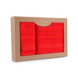 Dárková sada ručníků Moreno červená Set Dvoudílný set