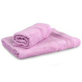 Set 2 bambusových ručníků Moreno lila Set Dvoudílný set