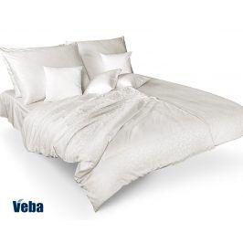 Povlečení Tencel větvičky bílé 140x200 jednolůžko - standard bavlna