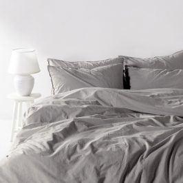 Povlečení Stonewash světle šedé 140x200 jednolůžko - standard bavlna