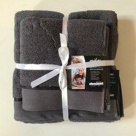 Dárková sada ručníků mikrobavlna antracitová Set Dvoudílný set
