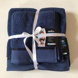Dárková sada ručníků mikrobavlna námořnická modrá Set Dvoudílný set