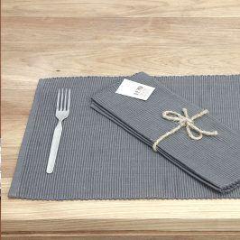 Prostírání Home Design šedé 30 x 45 cm šedá