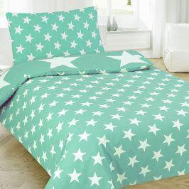 Povlečení Stars zelené 140x200 jednolůžko - standard Bavlna/polyester