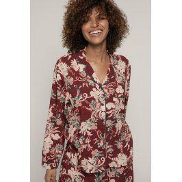 Dámský pyžamový kabátek Muriel  burgund