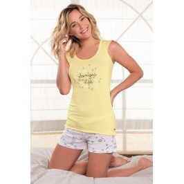 Dámské pyžamo Onirique krátké  žlutá