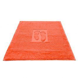 Koupelnová předložka Stopa korálová 50x70 cm bavlna