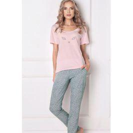 Dámské pyžamo Wild look dlouhé  růžová