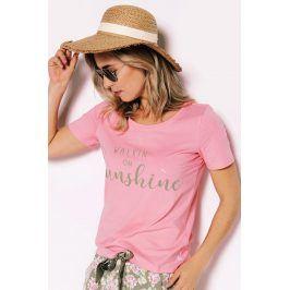 Dámské pyžamové tričko Sunshine  růžová