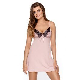Luxusní dámská košilka Amber růžová  pudrová