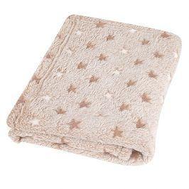 Dětská deka Milly Star béžová 75x100 cm béžová
