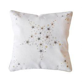 Povlak na polštářek Vánoce bílý 40x40 cm bílá