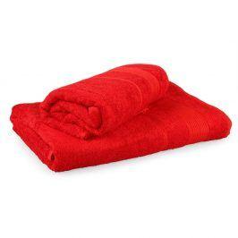 Set 2 bambusových ručníků Moreno červený Set Dvoudílný set