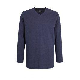 Pánské pyžamové triko Melange  modrá