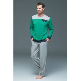 Pánské pyžamo BLACKSPADE 7390 modalové  zelená