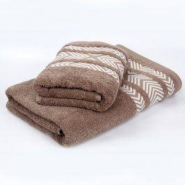 Bambusový ručník Tara - hnědý 50x90 cm Ručník