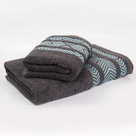 Bambusový ručník Tara - šedý 50x90 cm Ručník
