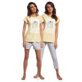 3dílný set dámského pyžama Parfum  žlutá
