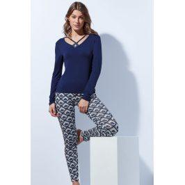 Elegantní pyžamo Tie  nám.modrá