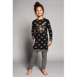 Dívčí pyžamo Bulldogs  černá